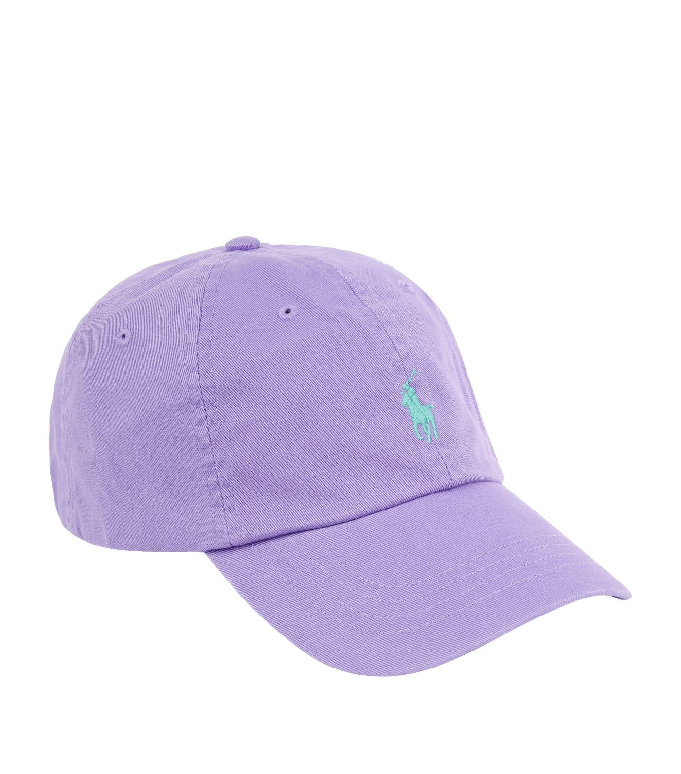 5e42c25683c Ralph Lauren Cotton Baseball Cap in Purple for Men - Lyst