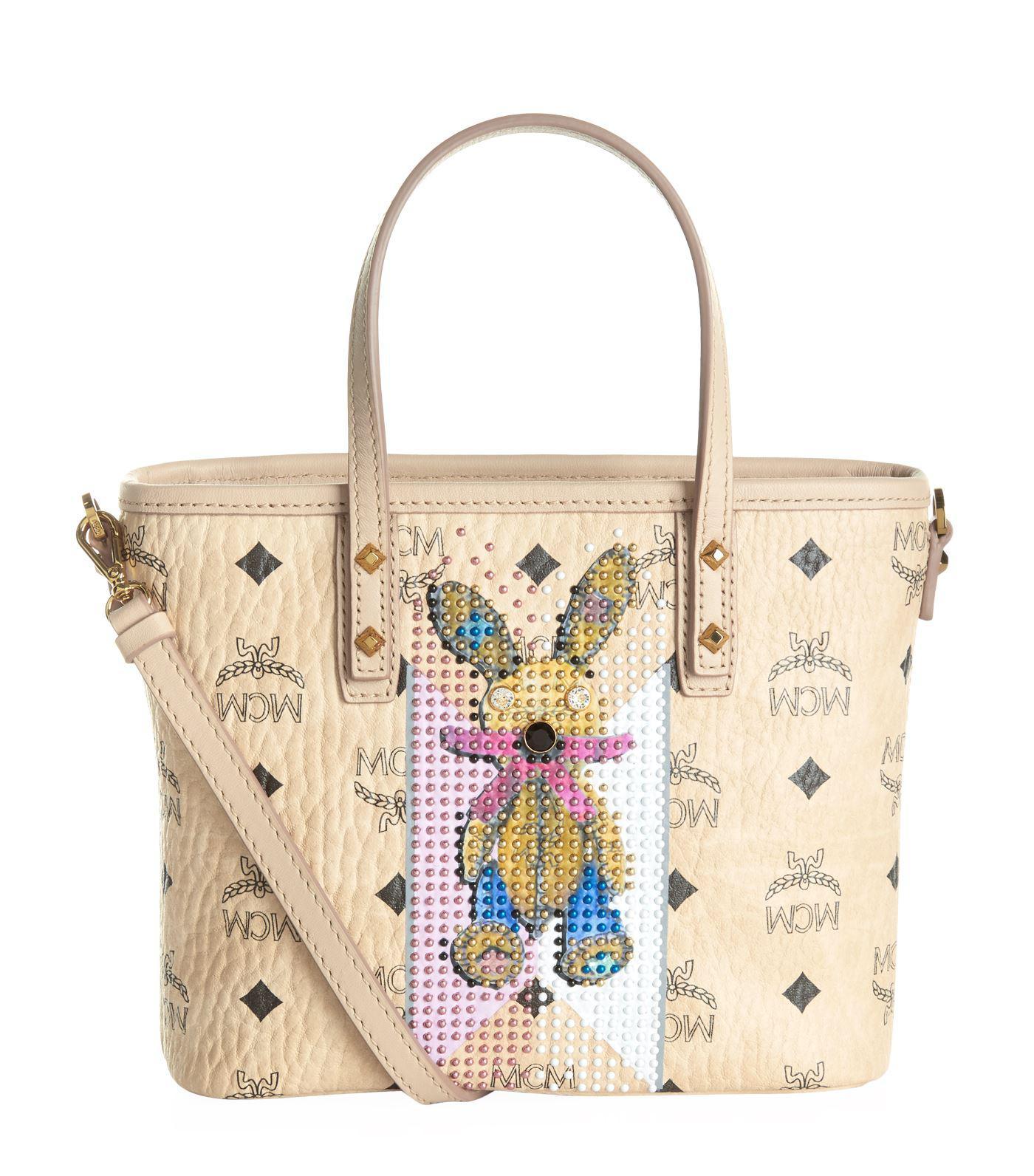 Rabbit Mini Backpack in Beige Visetos MCM a4J8sW