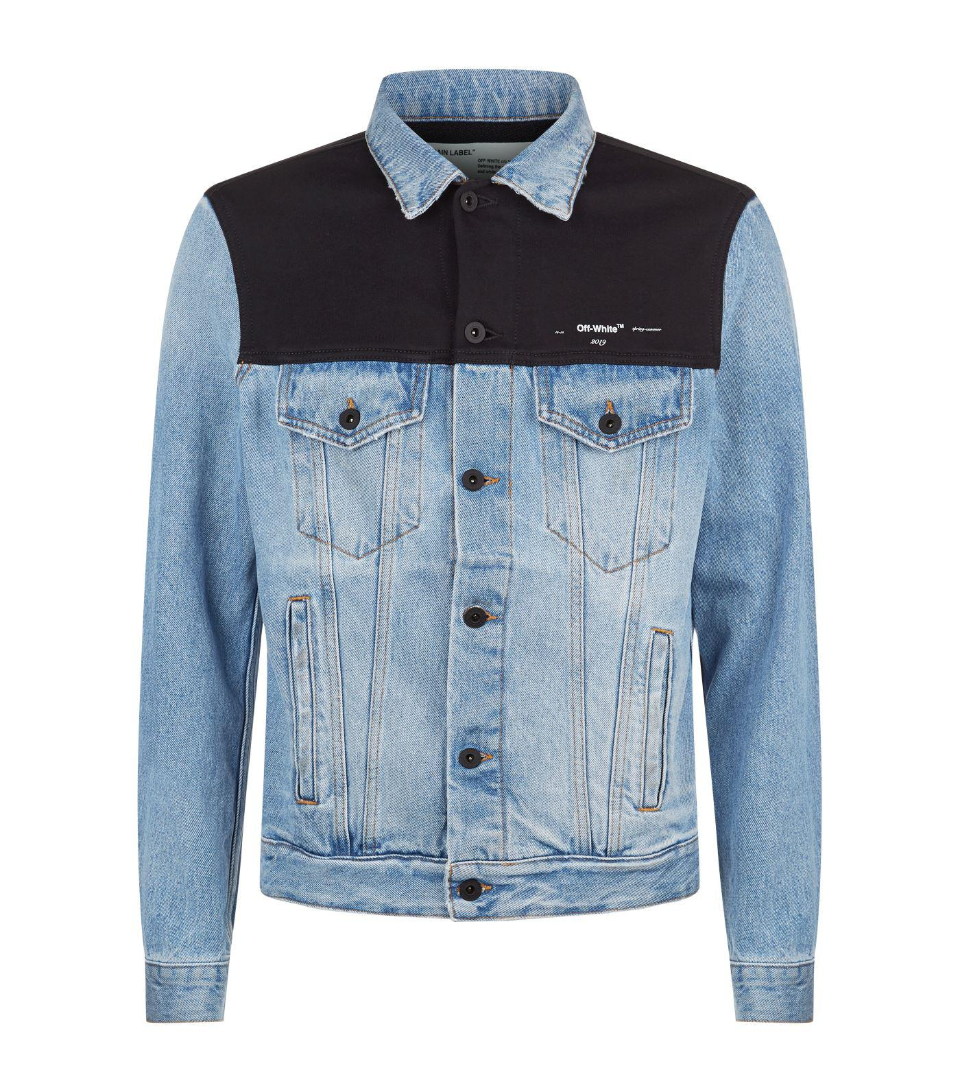 70fece381bef Off-White c o Virgil Abloh Denim Sweatshirt Jacket in Blue for Men ...