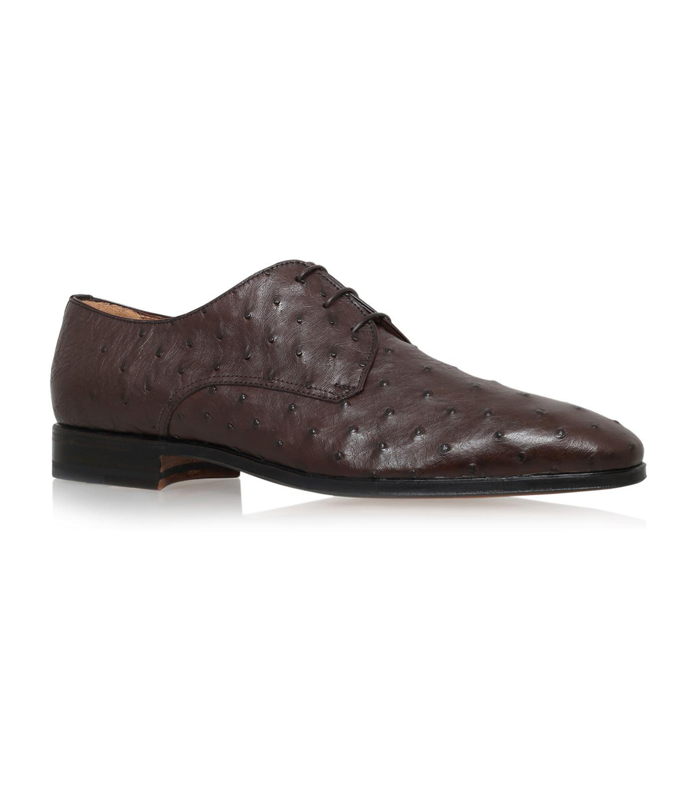 Cheap Mens Stemar Ostrich Derby Brown