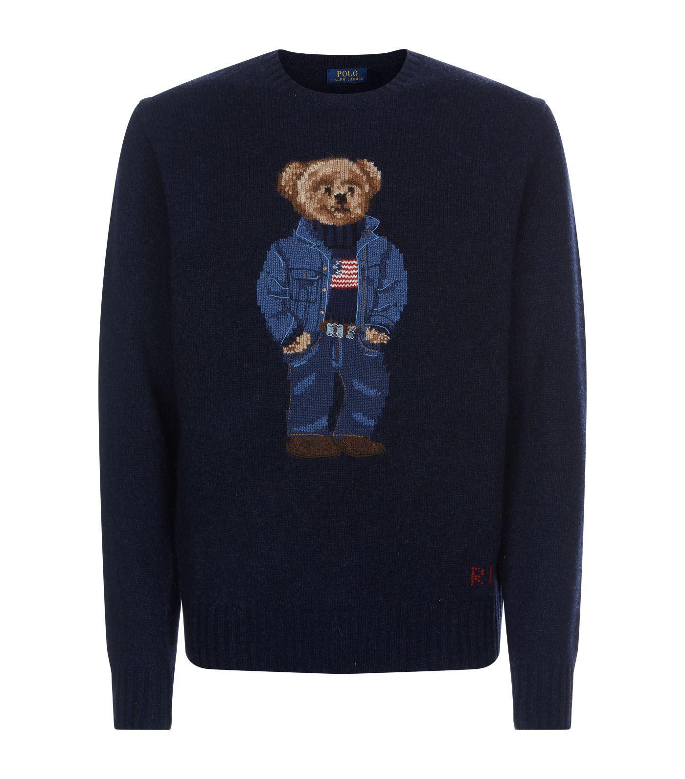 b7cc91d3f Lyst - Polo Ralph Lauren Polo Bear Sweater in Blue for Men