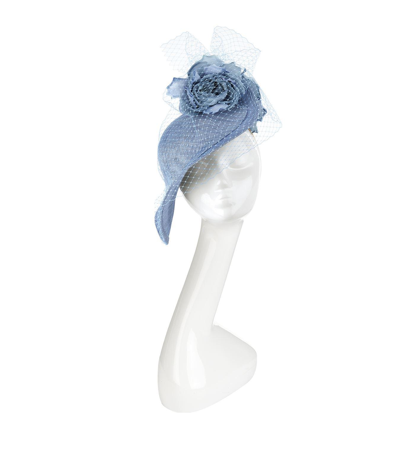 Lyst - Philip Treacy Floral Mesh Asymmetric Headpiece in Blue d65b1e77d336