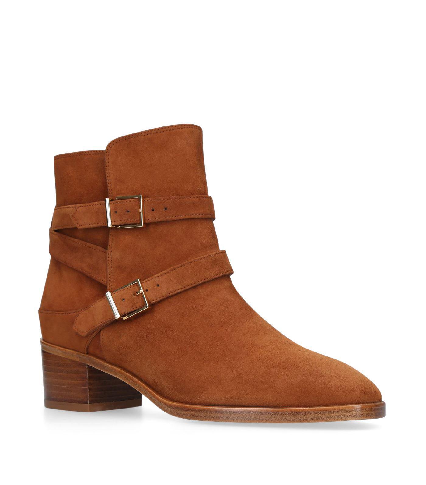 Sadie Suede Ankle Boots - Brown Stuart Weitzman 027NaCZorD