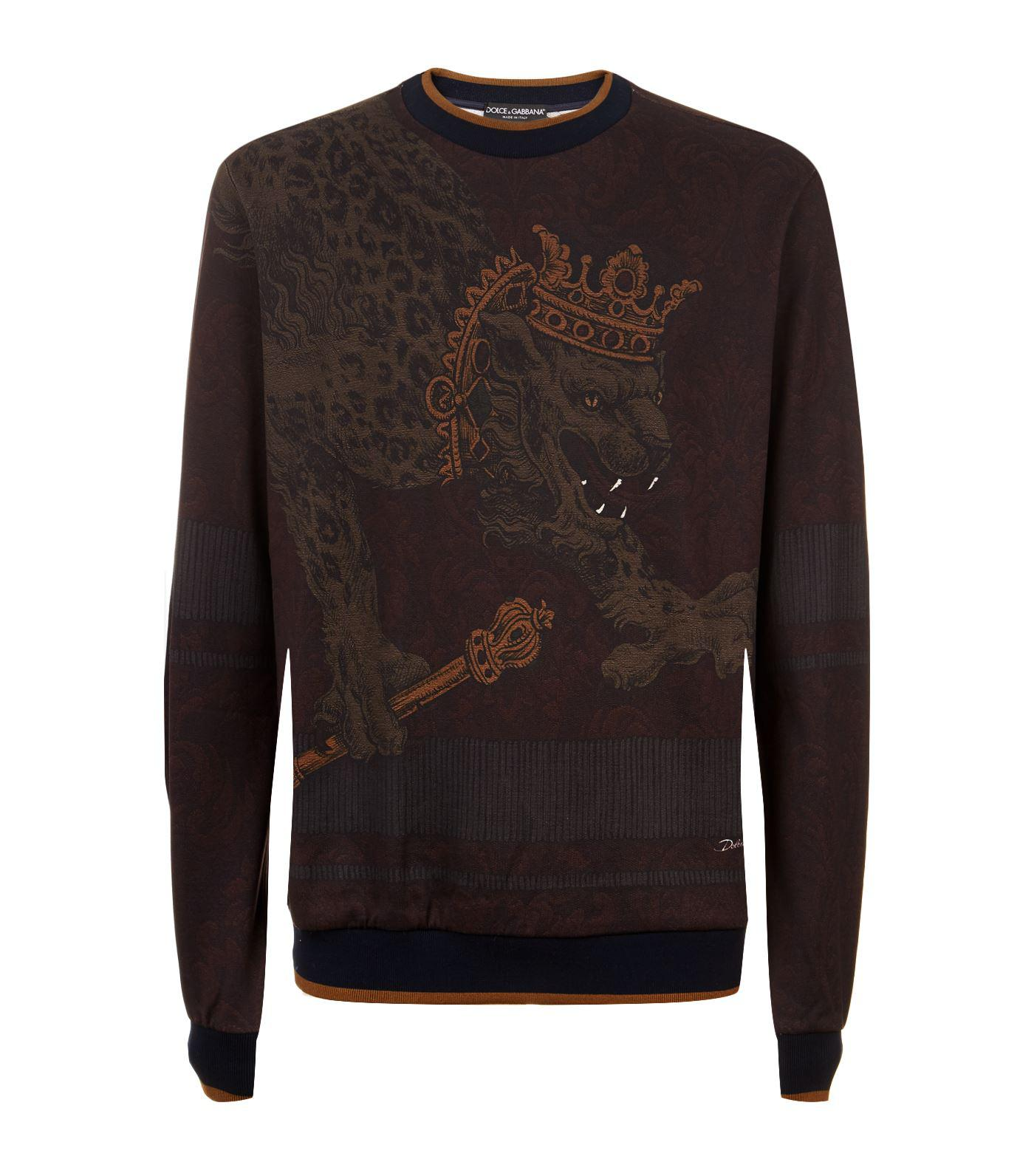 72a3ae6d Dolce & Gabbana Crowned Lion Sweatshirt for Men - Lyst