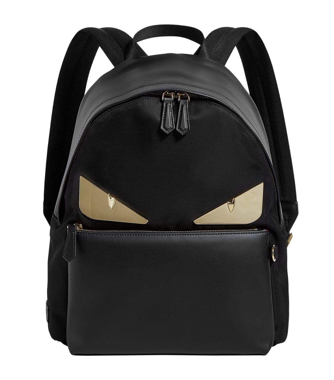 be7cf6977e27 Lyst - Fendi Bag Bugs Leather Backpack in Black for Men