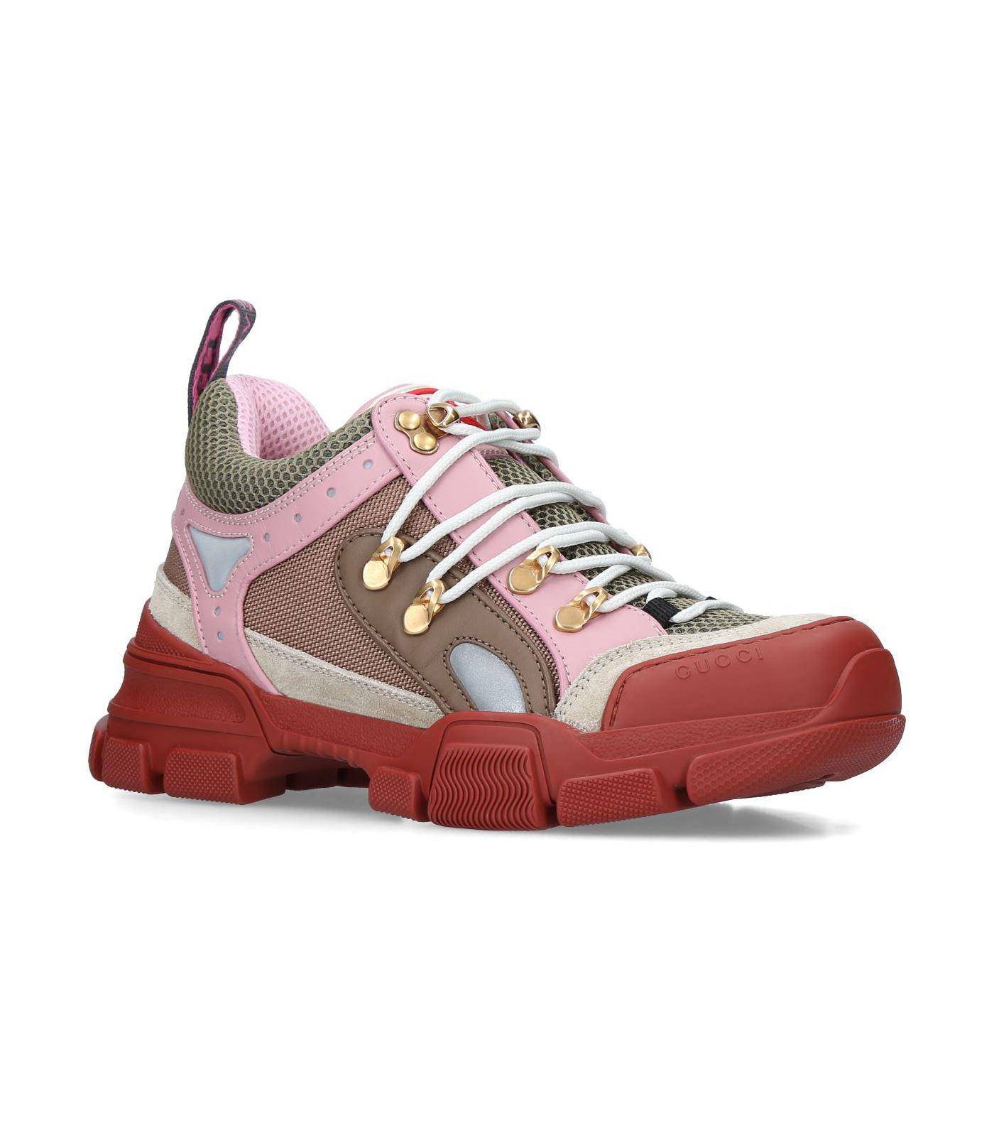 9e058756d086 Gucci Flashtrek Sneakers in Pink - Save 6% - Lyst