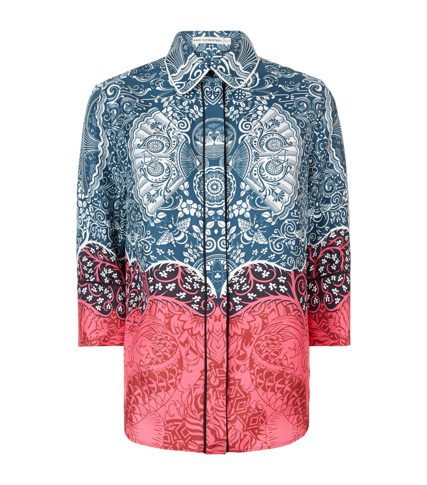 Rita Silk Shirt Mary Katrantzou Release Dates Cheap Online Cheap Sale Largest Supplier Clearance Supply Collections For Sale vPixxuBfeV