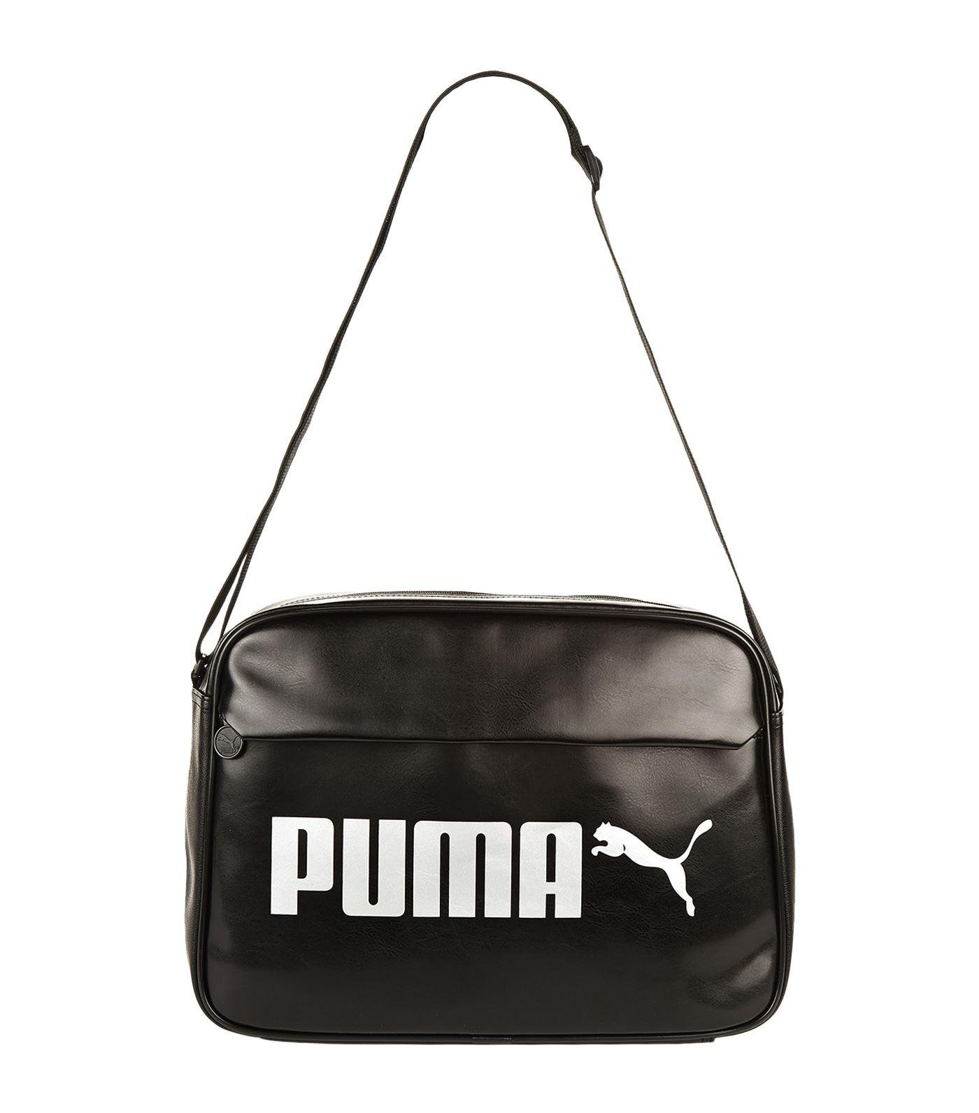5b9869bb7d Lyst - PUMA Campus Reporter Bag in Black