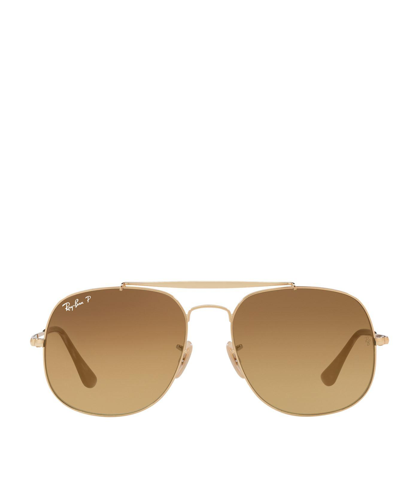 aa97180219 Ray-Ban Aviator Sunglasses in Brown - Save 1.05263157894737% - Lyst