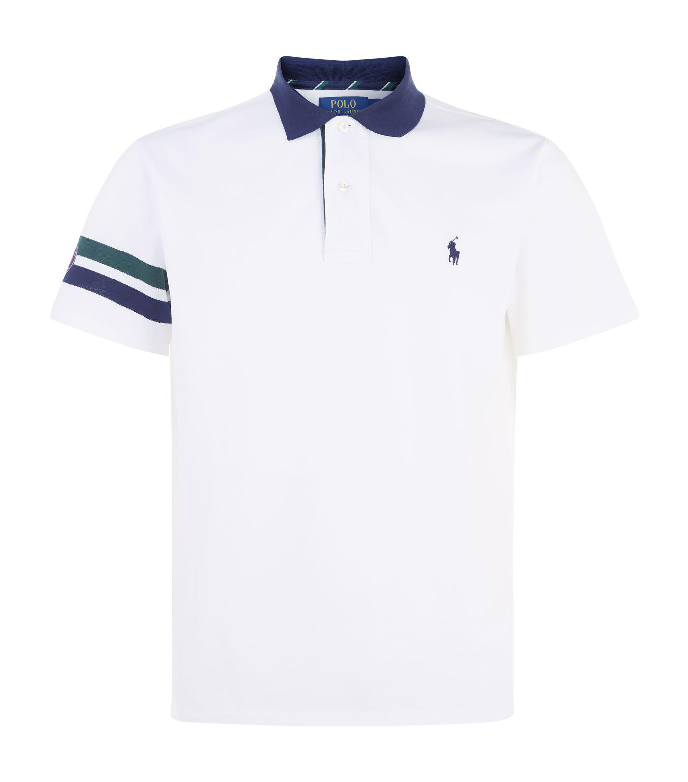 db2b12aace Lyst - Polo Ralph Lauren Wimbledon Slim Fit Polo Shirt in White for Men