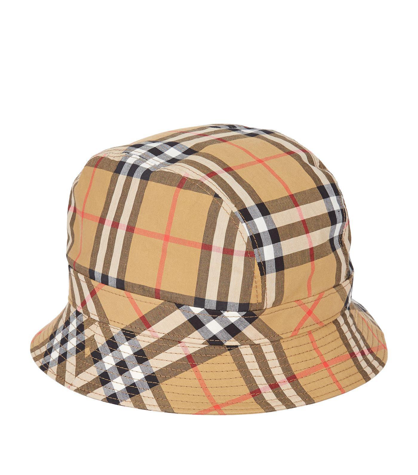 ab972879de3ebc Tap to visit site. Burberry - Yellow Vintage Check Bucket Hat ...