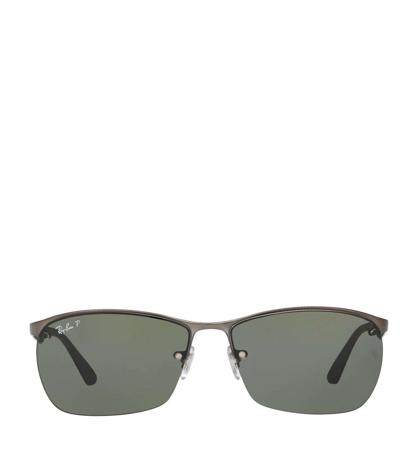 Lyst - Ray-Ban Half-frame Sunglasses in Gray for Men