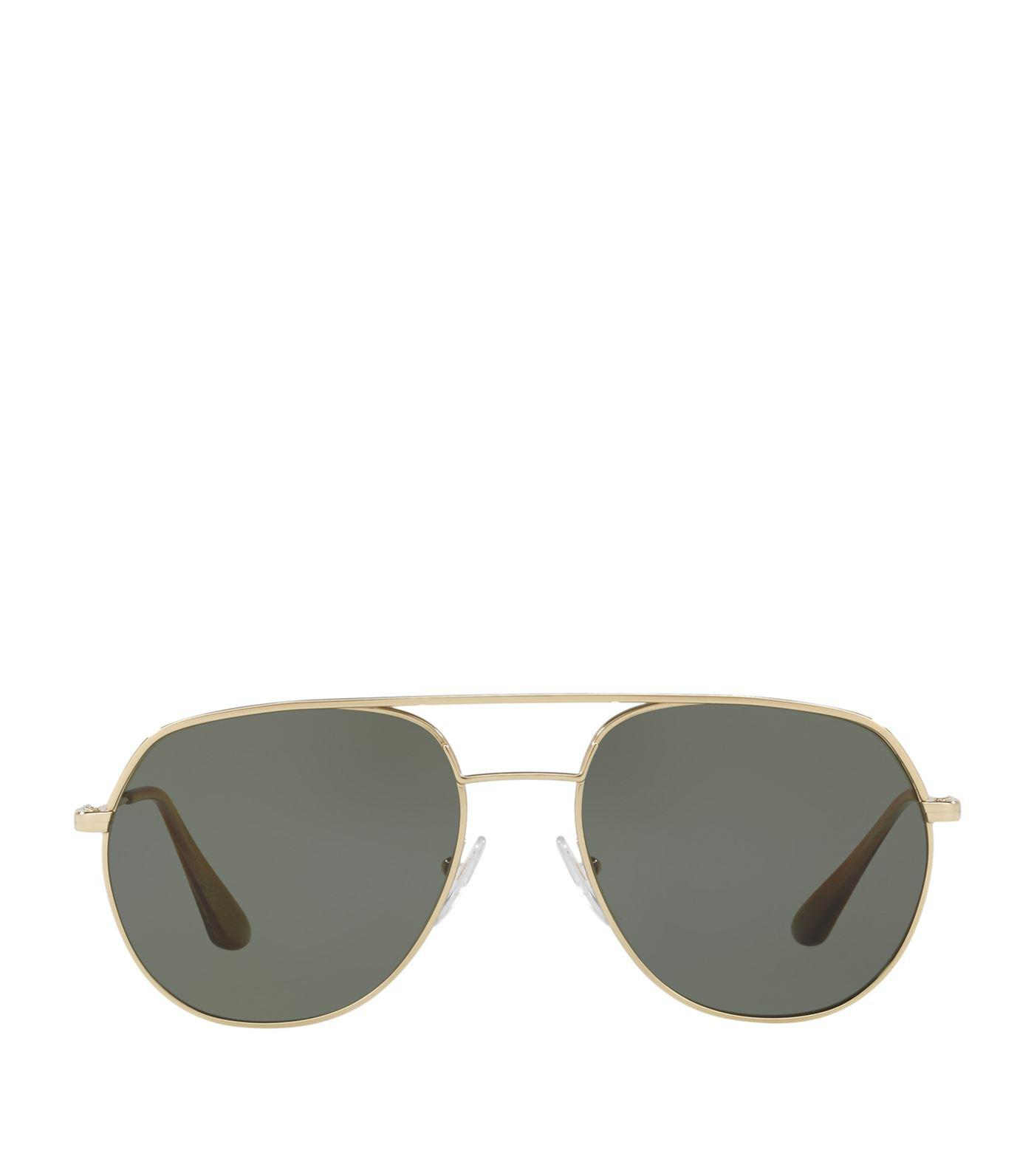 83741ff4b92 Prada Irregular Sunglasses in Green for Men - Lyst