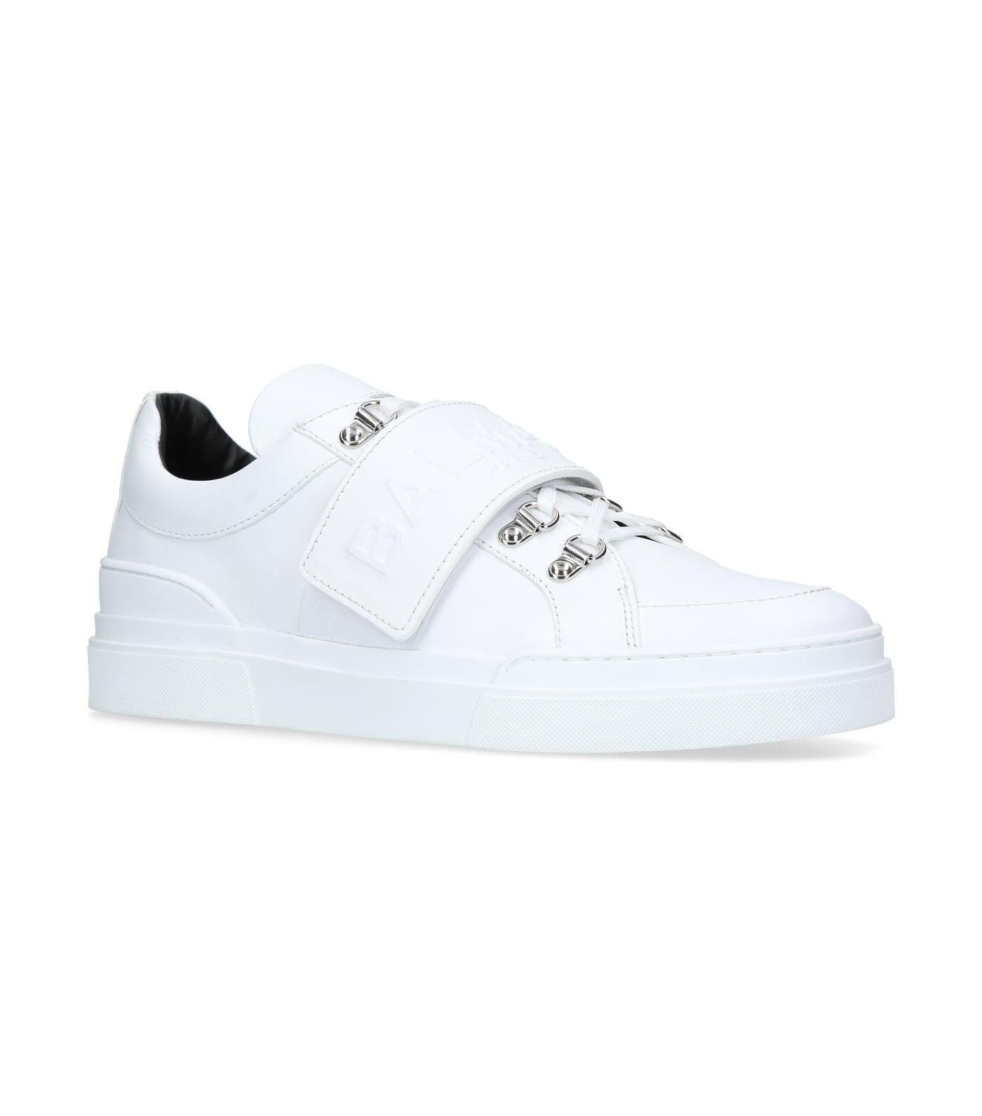 embossed low-top sneakers - White Balmain AUSjb