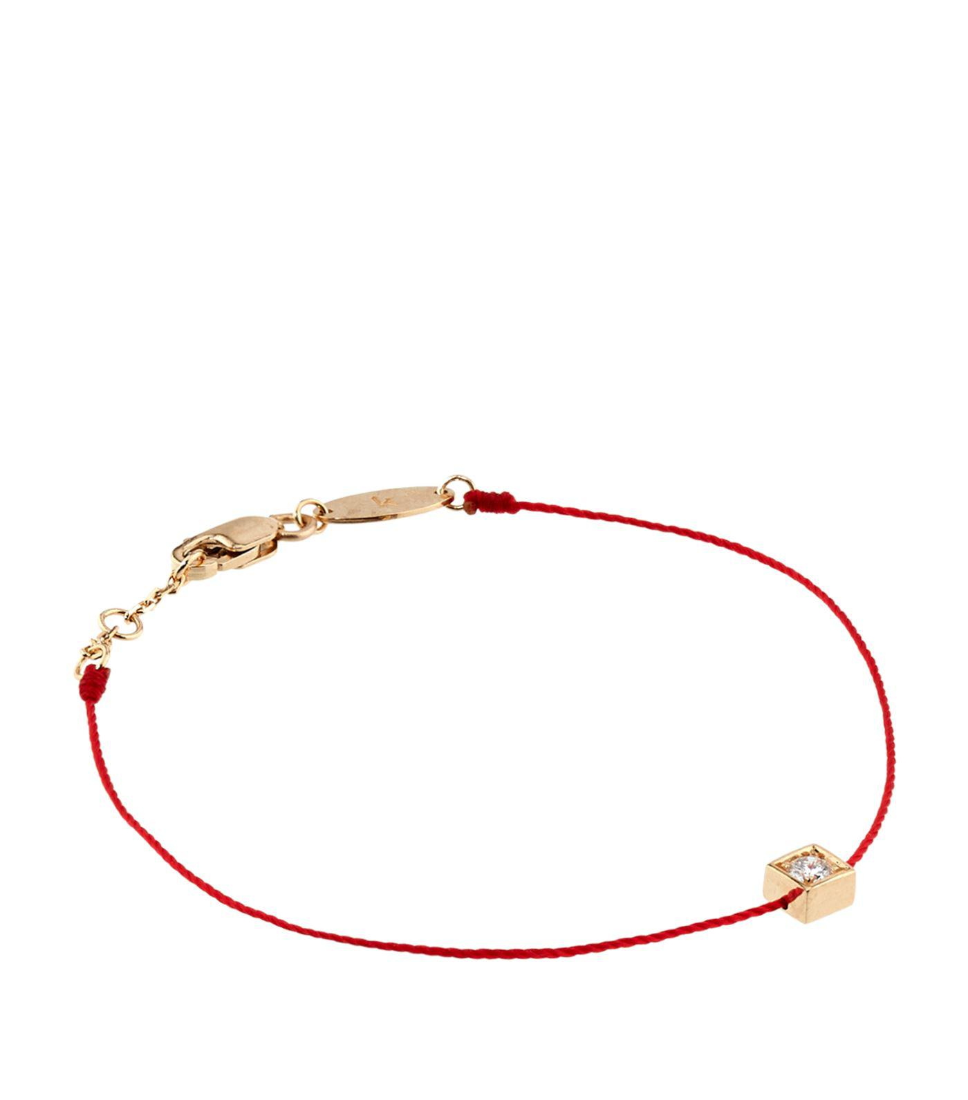 jiaen zirconia rope sweet redline cubic red chain each single bracelet rose jewelry plated half amazon gold n com dp korea