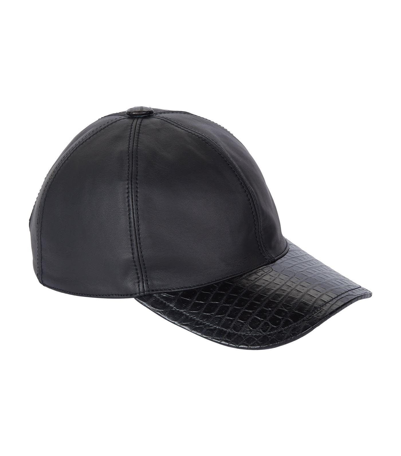 d47cd1c4f5523 Lyst - Stefano Ricci Crocodile Peak Baseball Cap in Black for Men