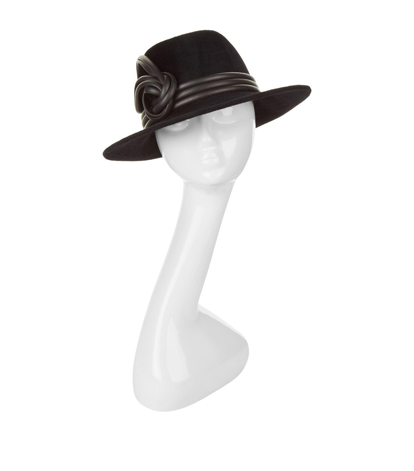 Philip Treacy Bow Trilby Hat in Black - Lyst 98154f24d4dc