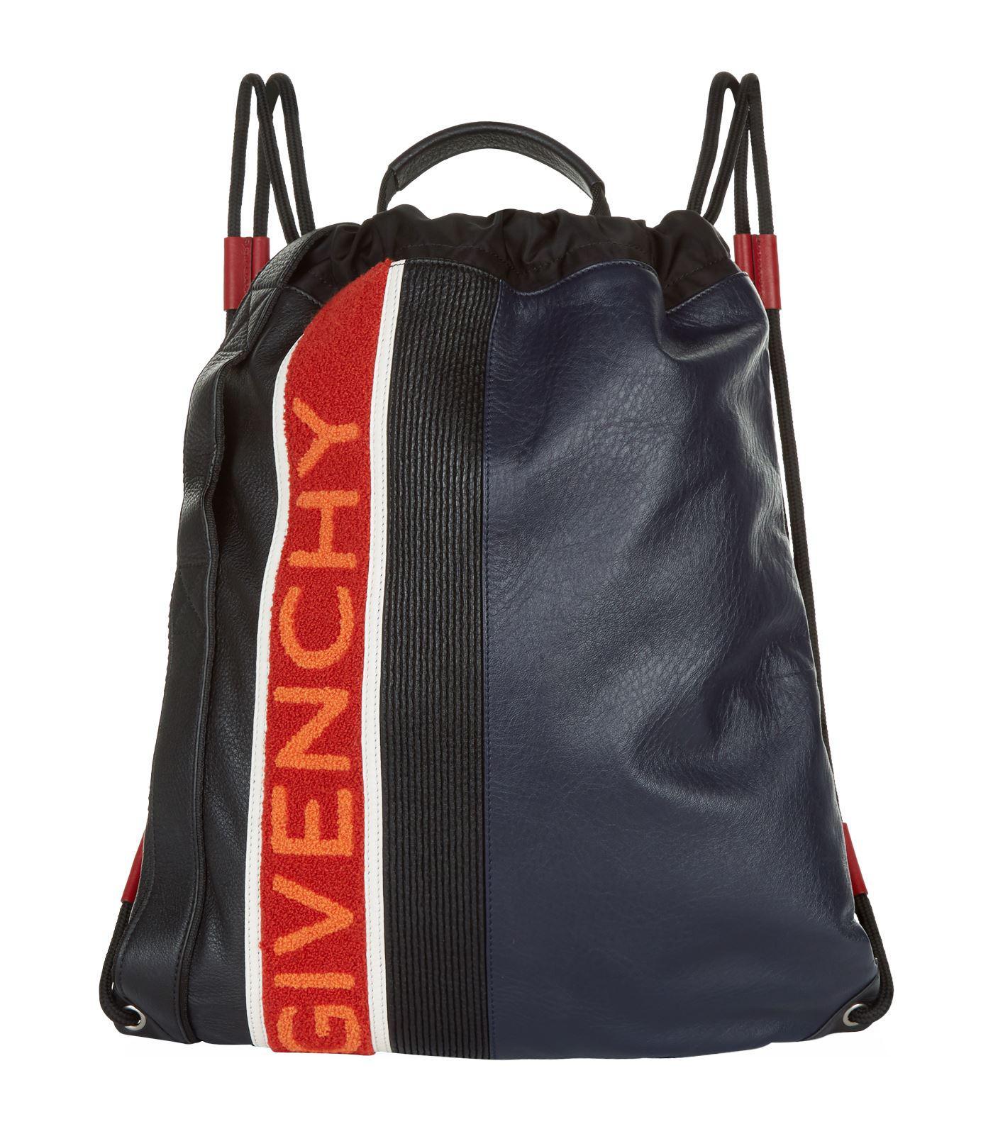 99228652da9b00 Givenchy Mc3 Logo Drawstring Bag in Blue for Men - Lyst