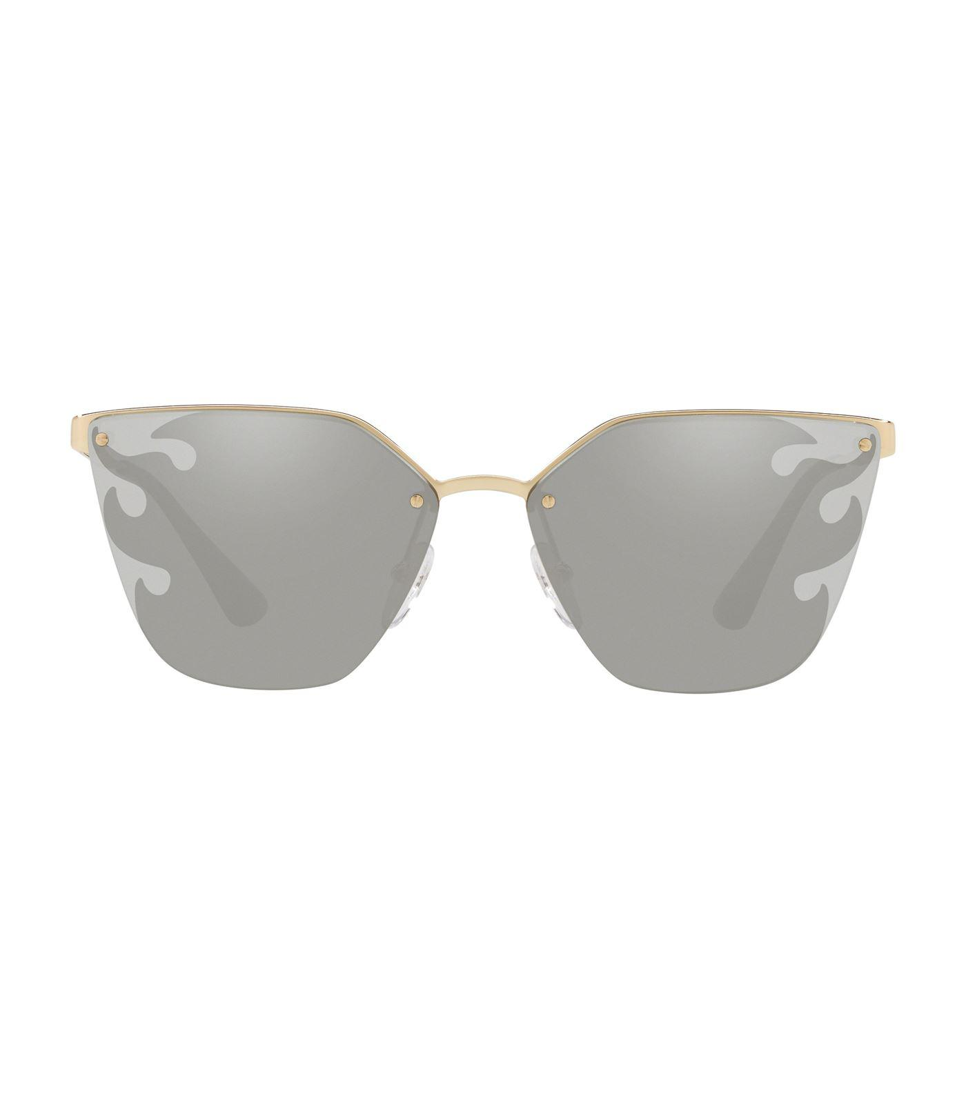 81849eb945b Prada Flame Cat Eye Sunglasses in Metallic - Lyst