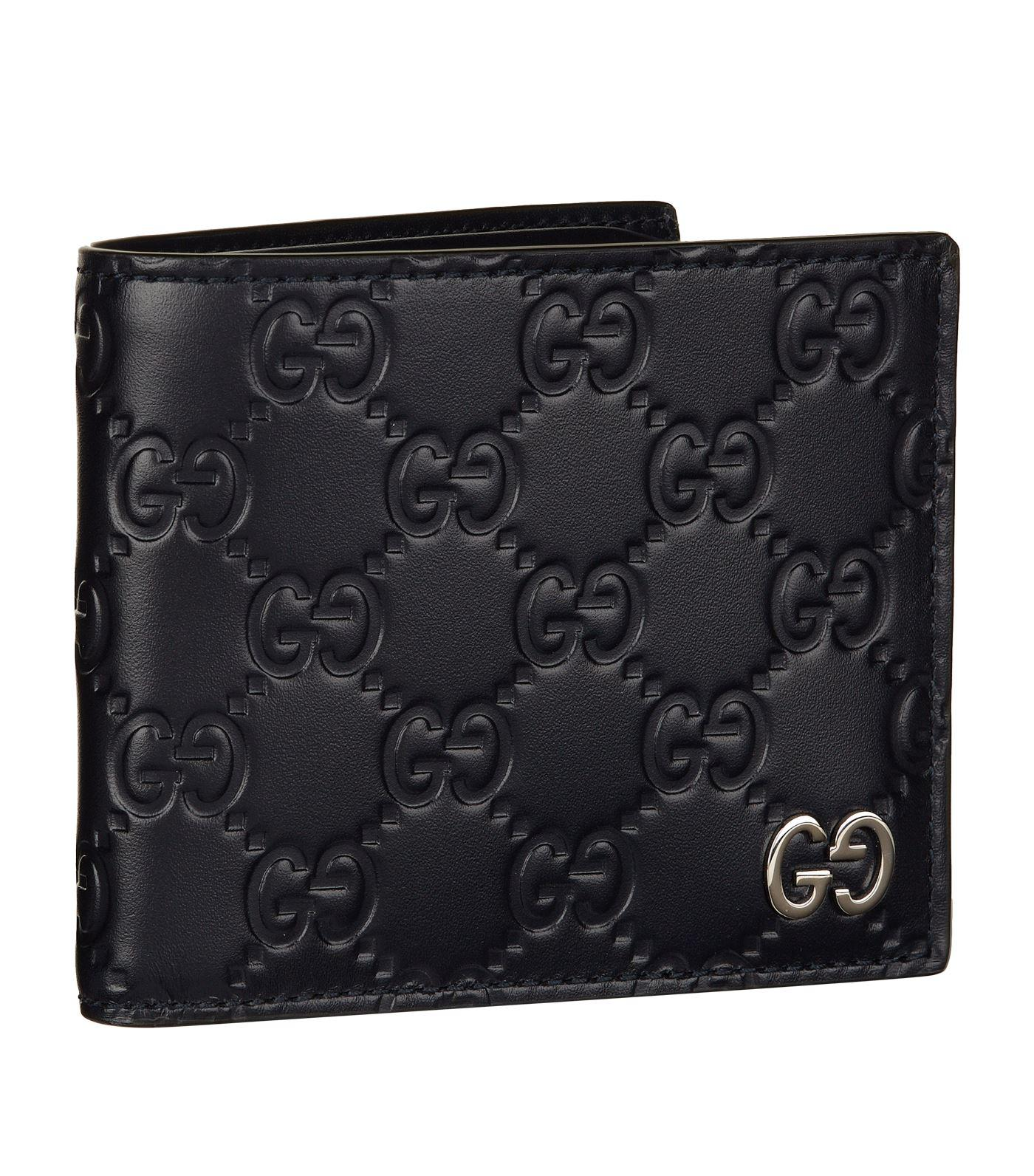 fc23fd15b47 Lyst - Gucci Marmont Bifold Coin Wallet in Black for Men
