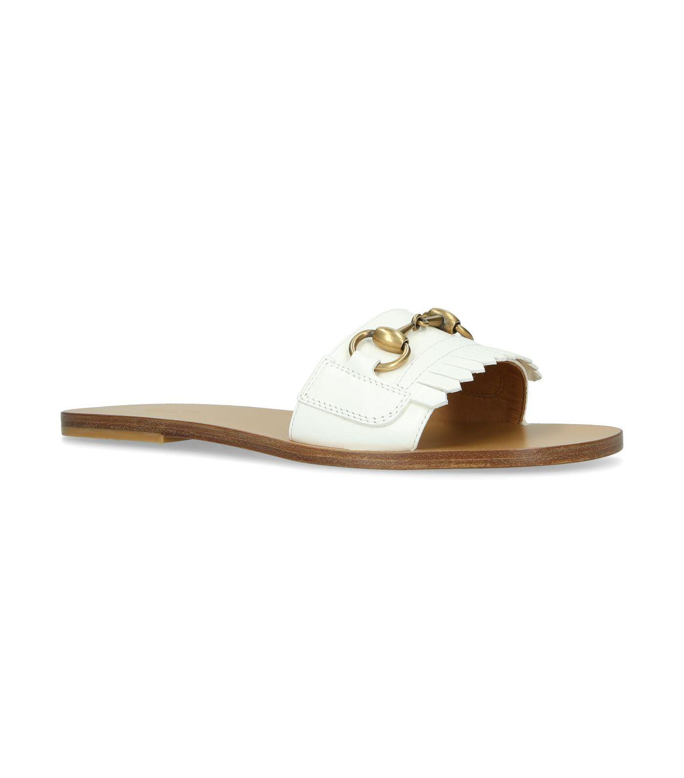 Gucci Pool sandals smooth leather Gem A6hUbs7