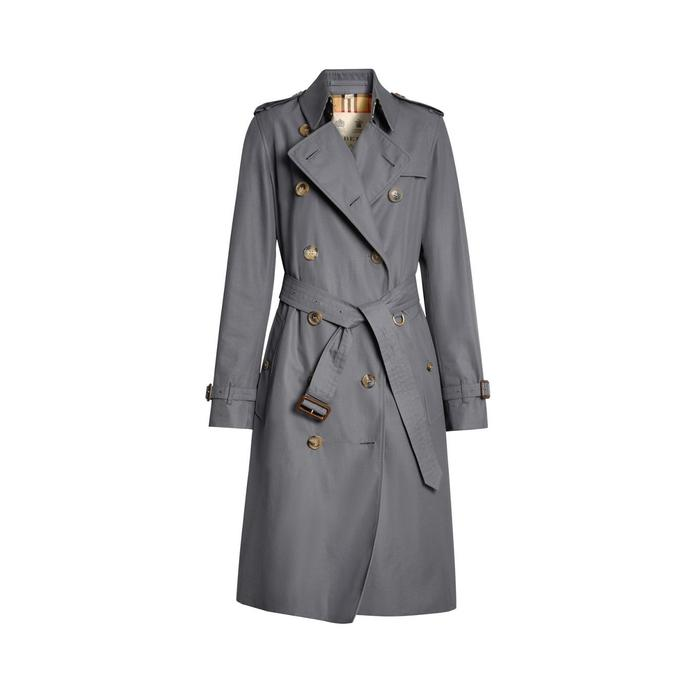 bddbea0147d4 Burberry - Gray The Long Kensington Heritage Trench Coat - Lyst. View  fullscreen