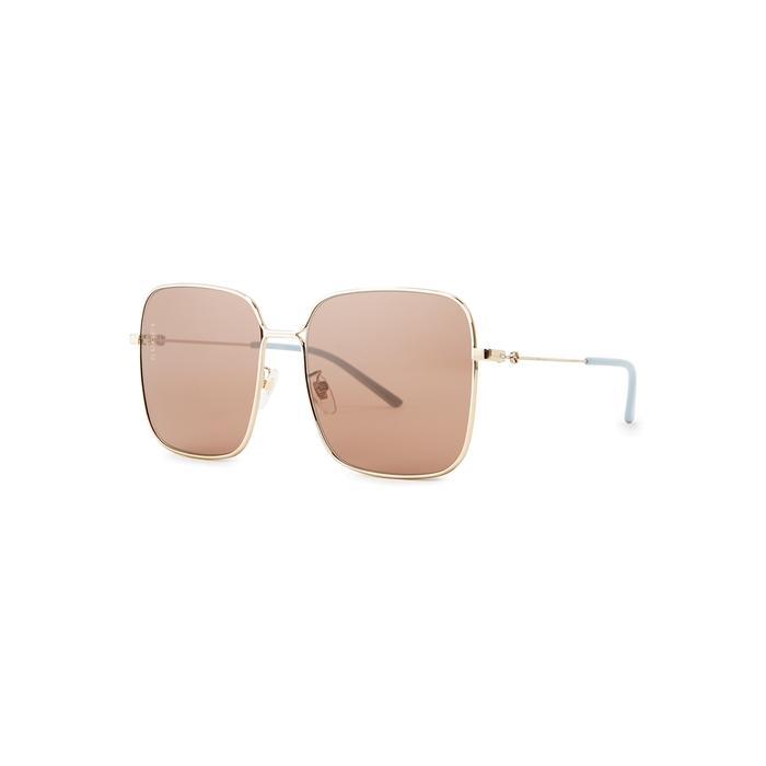 0dc5edfa0b1 Gucci. Women s Metallic Gold-tone Square-frame Sunglasses. £270 From Harvey  Nichols