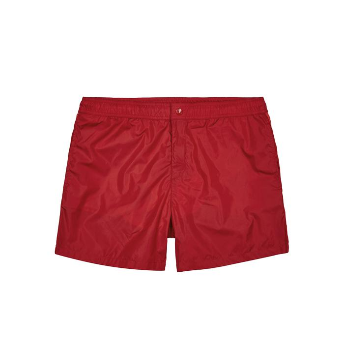 Moncler. Men's Dolmais Red Swim Shorts