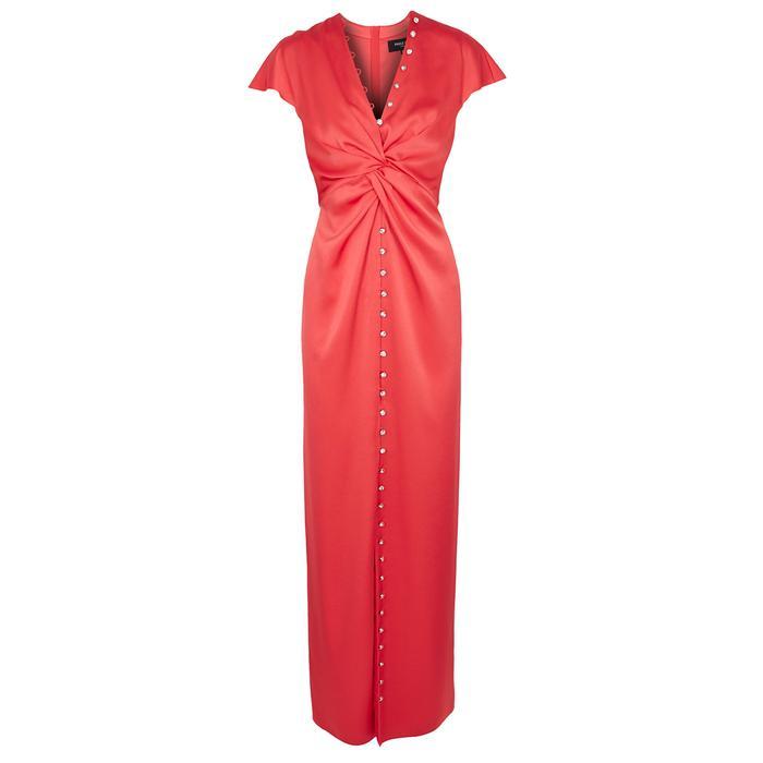 429cfcfbb06db Paule Ka. Women s Pink Coral Twist-effect Satin Dress. £885 From Harvey  Nichols
