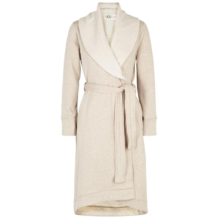 e42c055784 Ugg Duffield Ii Fleece-lined Cotton Jersey Robe in Natural - Lyst