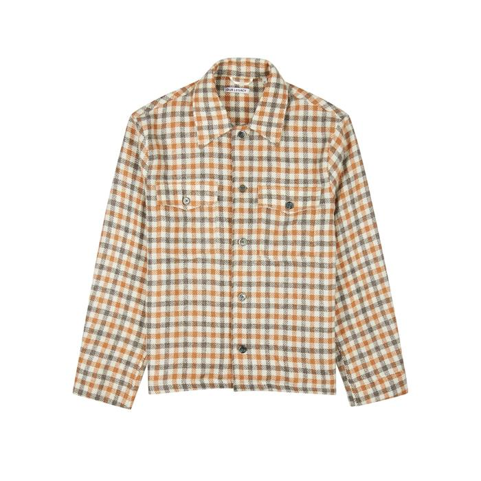 f1307288239b Our Legacy Checked Alpaca And Wool-blend Jacket in Natural for Men ...