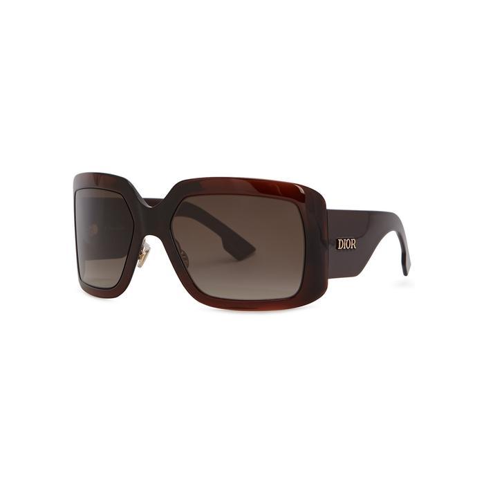 7b56b00e384aa Dior Solight2 Square-frame Sunglasses in Brown - Lyst