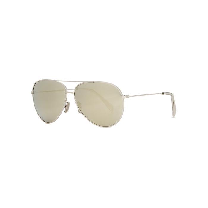 72873df9b9 Céline Silver-tone Aviator-style Sunglasses in Metallic - Lyst