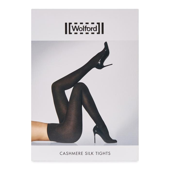 df8e7be4c4d Wolford Black Cashmere And Silk Blend Tights - Size L in Black ...