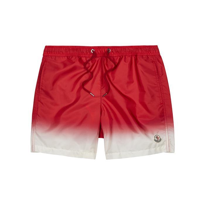 Moncler. Men's Red Dégradé Swim Shorts