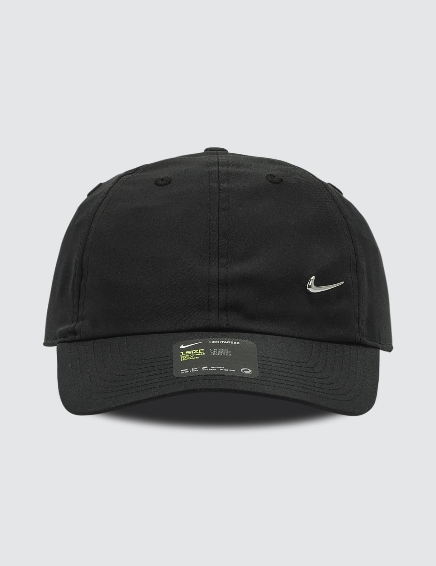 95d302c09f1 Lyst - Nike Metal Swoosh H86 Cap in Black for Men