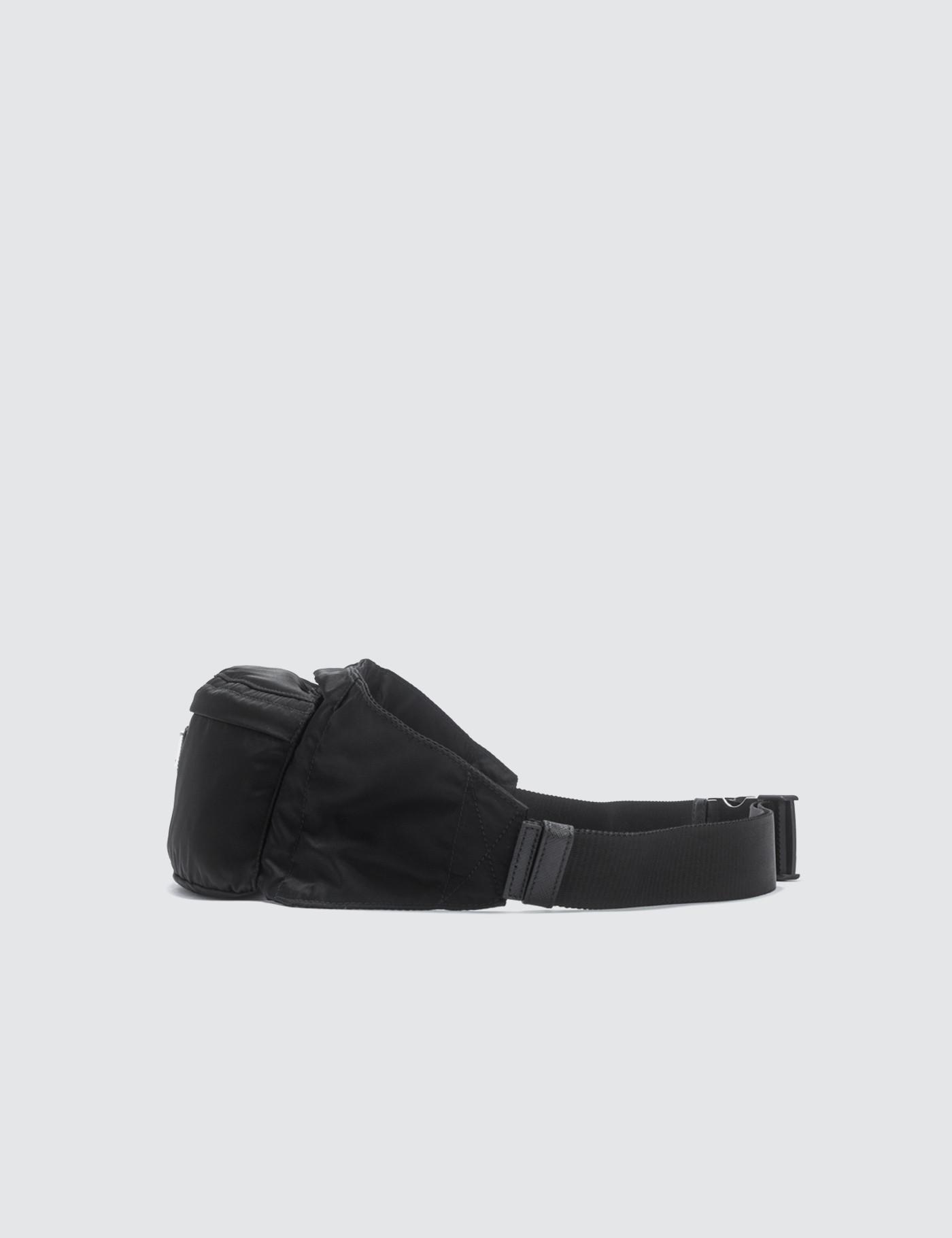 a28c4f06cea8 Prada Zip Long Fanny Pack in Black for Men - Lyst