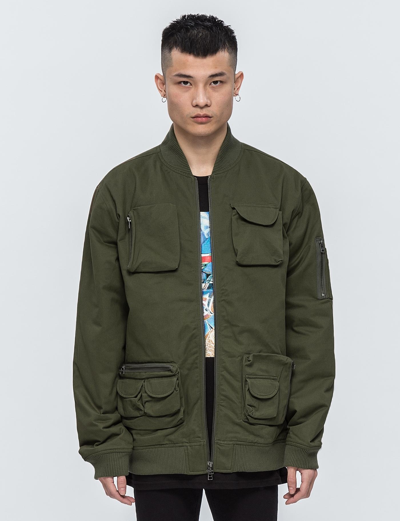 Dc Hbx Lyst Black Scale Utility Ma1 Jacket In Green For Men