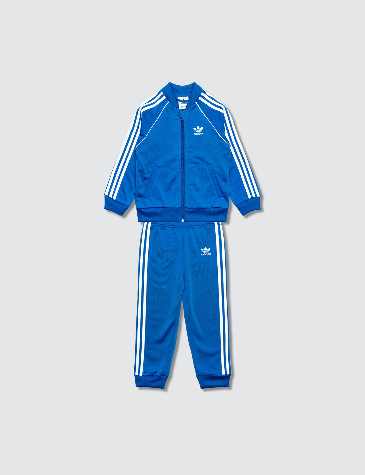 48edfcf5ceb7 Lyst - adidas Originals Superstar Track Suit in Blue for Men