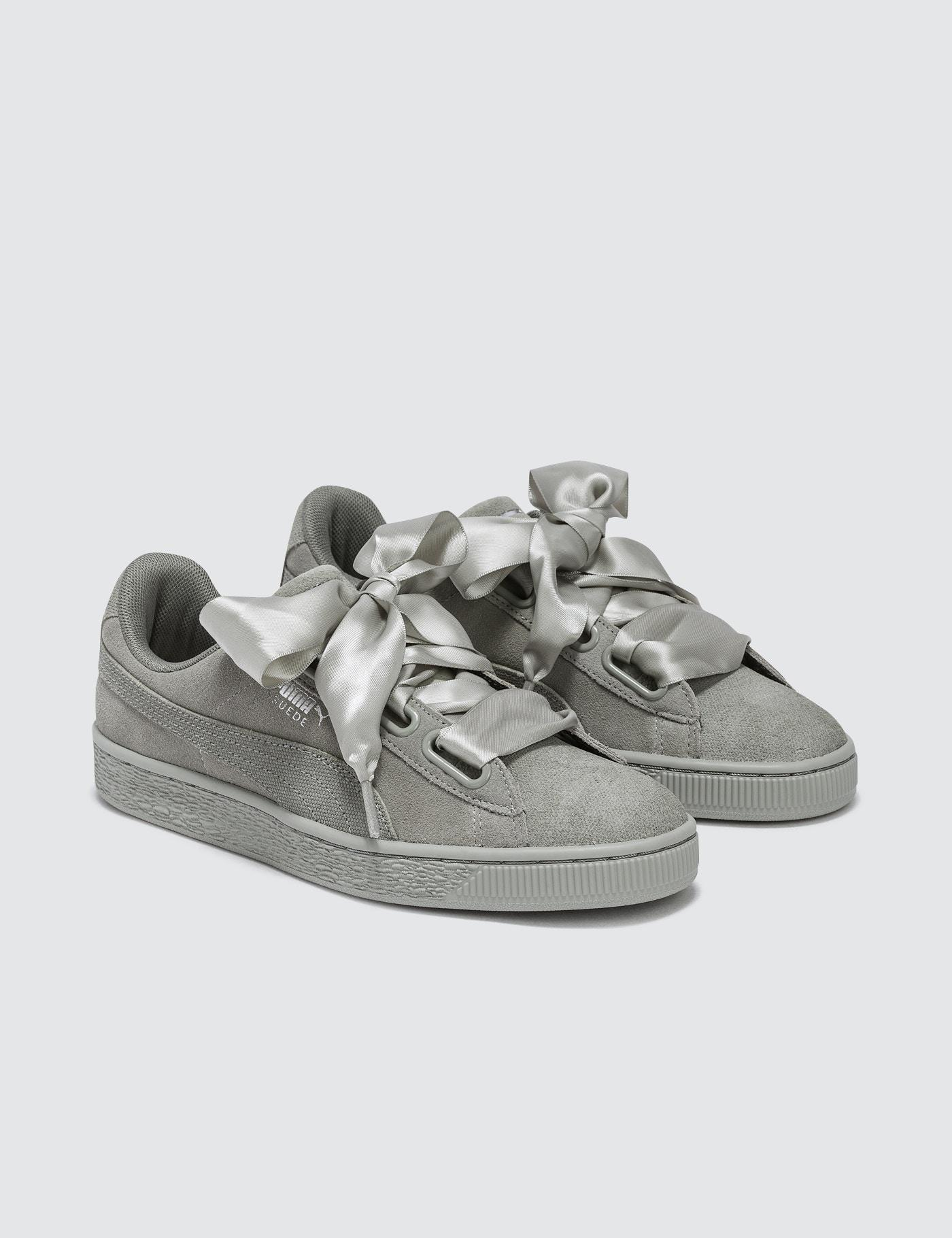 2cb0971d5086 Lyst - PUMA Suede Heart Pebble in Gray