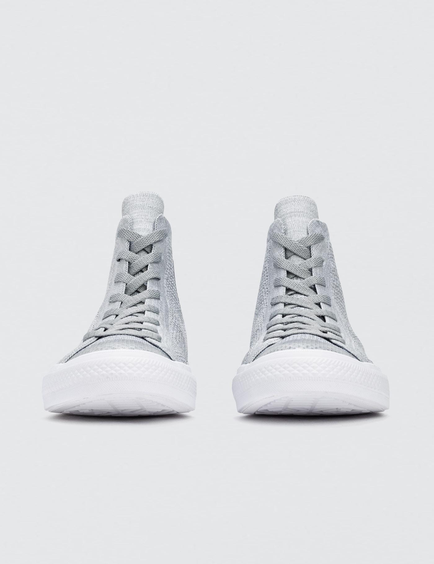0e474af48351 Lyst - Converse Chuck Taylor All Star X Nike Flyknit in Gray for Men
