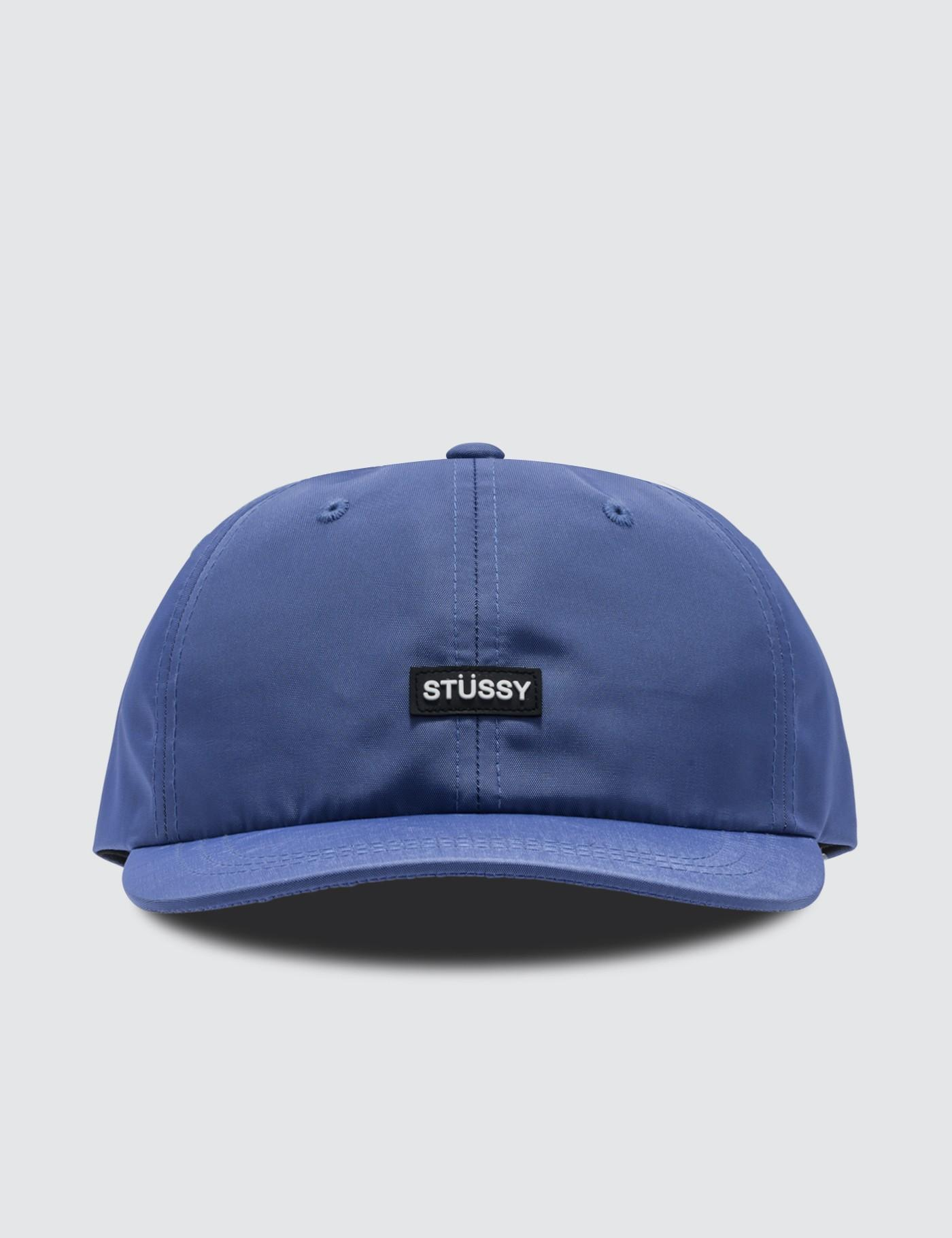 983447ac7ed Lyst - Stussy Rubber Patch Low Pro Cap in Blue for Men