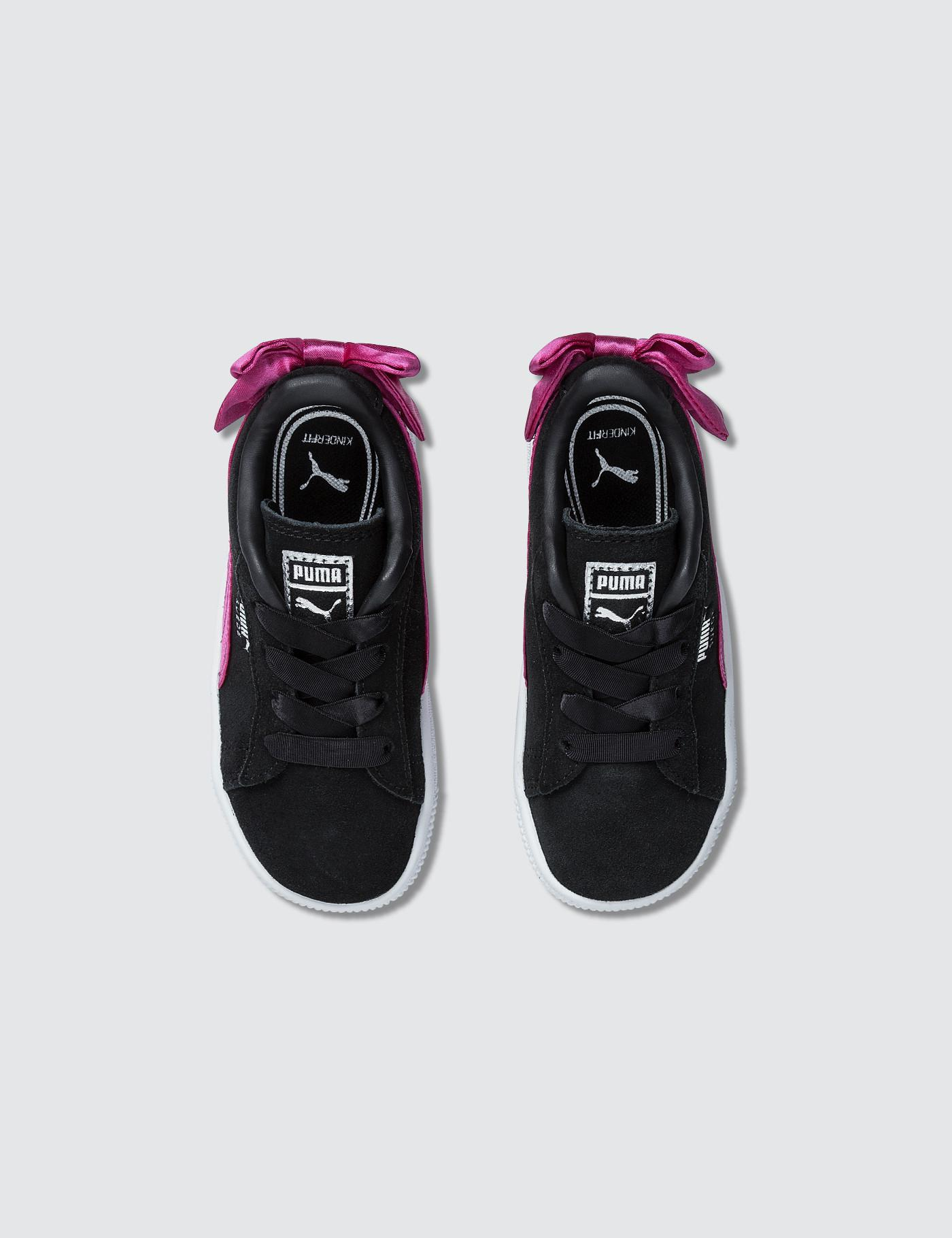 0943b2aaafad Puma Suede Bow Ac Infant in Purple - Lyst