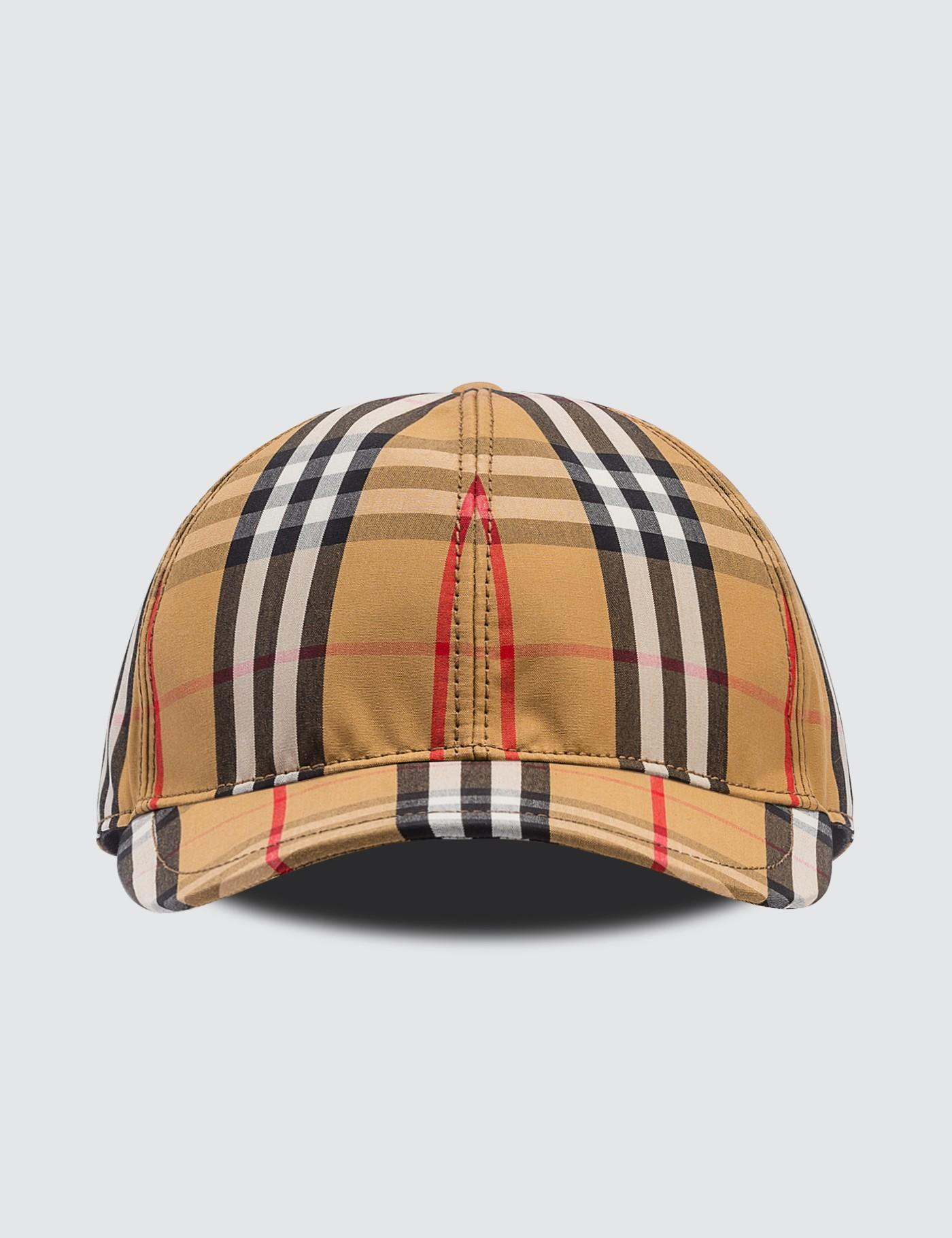 3cb72738 Lyst - Burberry Vintage Check Baseball Cap in Brown