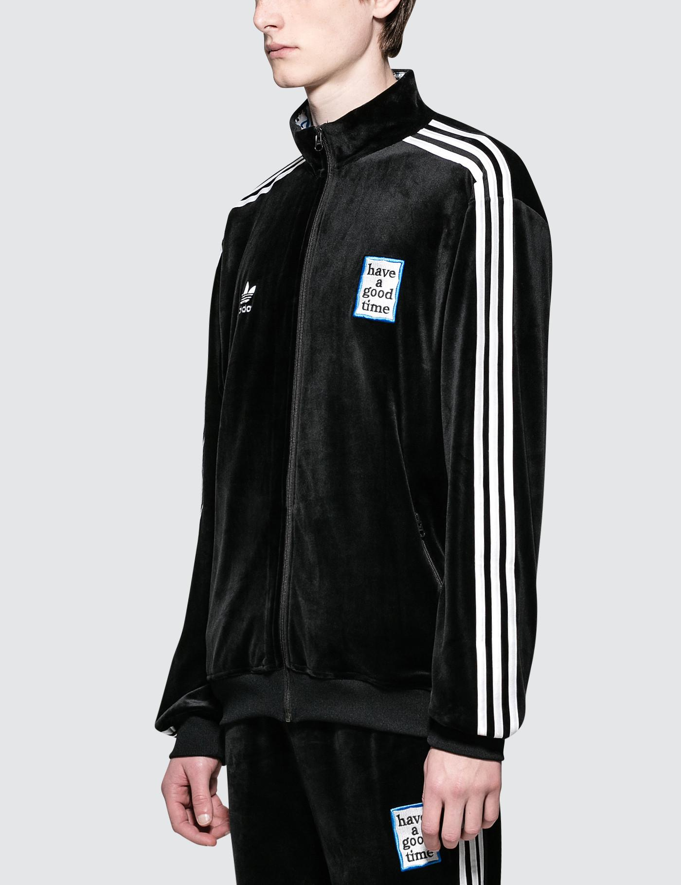 2a2c0eb33c46 Lyst - adidas Originals Have A Good Time X Adidas Velour Track Jacket in  Black for Men