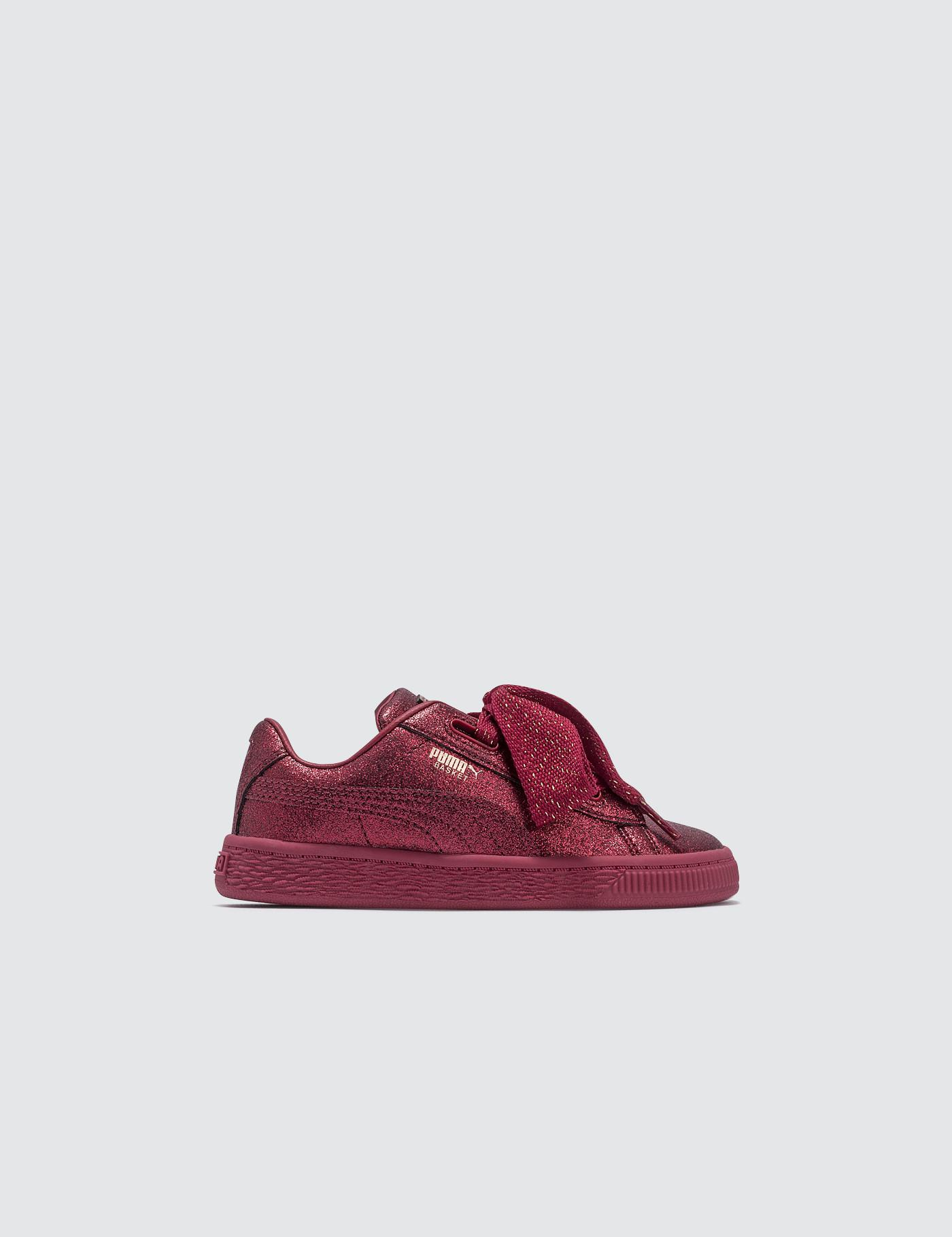 9b4386b436c Lyst - PUMA Basket Heart Holiday Glamour Infant in Red