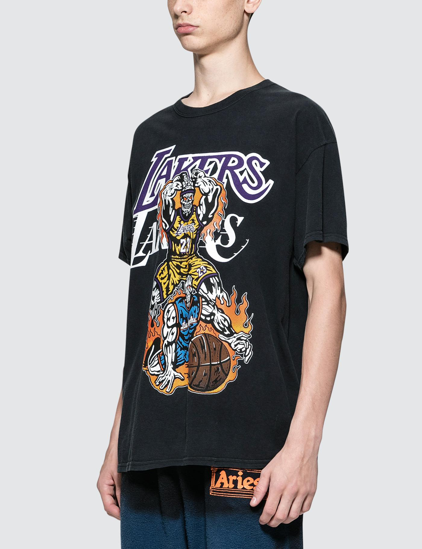 f87fee8a6a6 Warren Lotas Lakers Athletics T-shirt in Black for Men - Lyst