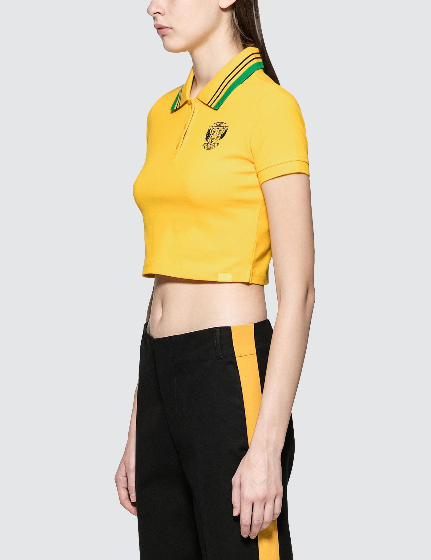 e8812f24 PUMA Fenty By Rihanna Cropped Polo in Yellow - Lyst