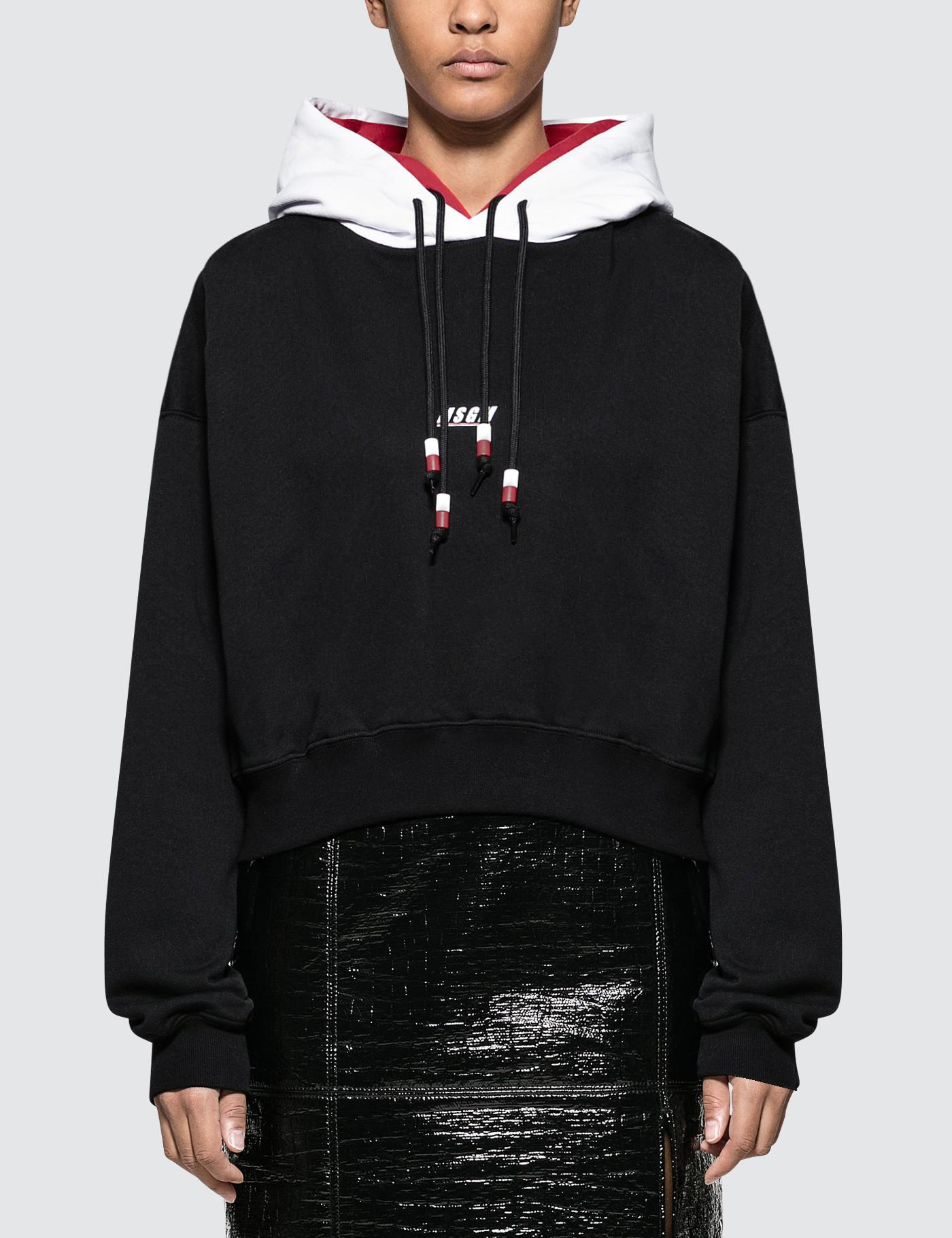 9d78c6dc42 Lyst - MSGM Double Hooded Hoodie in Black - Save 18%