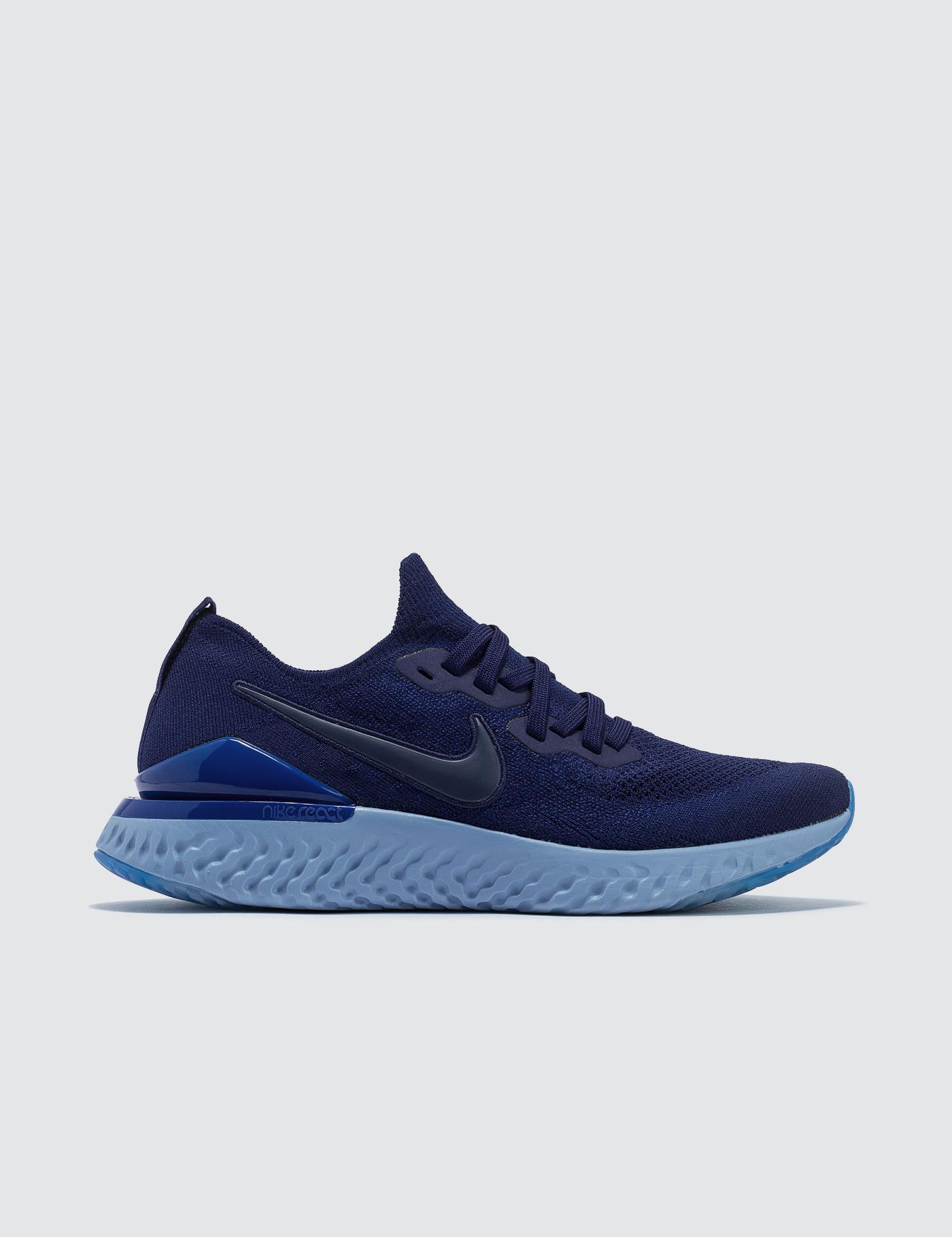 193c6e4d0a43 Nike Epic React Flyknit 2 in Blue for Men - Lyst